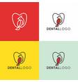 dental clinic creative logo design vector image