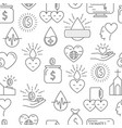 donation money and blood seamless pattern vector image