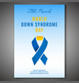 down syndrome poster vector image