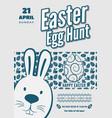 easter egg hunt poster or invitation design vector image