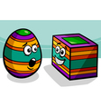 easter square egg cartoon vector image vector image