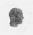 face id background with fingerprint vector image vector image