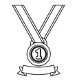 first place award symbol black and white vector image