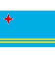 Flag of Aruba vector image