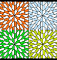 four seasons abstract patterns vector image