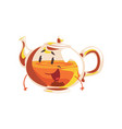 funny glass teapot cartoon character element for vector image vector image
