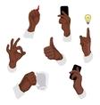 gestures vector image vector image