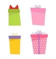 Gift box icon isolated set vector image vector image