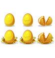 golden eggs in birds nest twigs easter vector image vector image