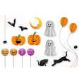 halloween decorative elements vector image