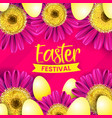 happy easter day festival background design vector image vector image