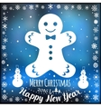 Happy New Year and Marry Christmas Holiday card vector image vector image