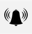 icon bell tower warning vector image vector image