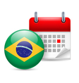 Icon of National Day in Brazil vector image vector image