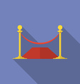 Icon of Rope Barrier Flat style vector image