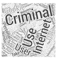 internet identity theft Word Cloud Concept vector image vector image