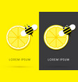 lemon and bee vector image