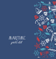 maritime colorful yacht club poster vector image vector image