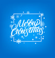 merry christmas hand written lettering design vector image vector image