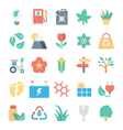 Nature and Ecology Colored Icons 3 vector image vector image