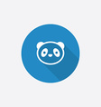 panda Flat Blue Simple Icon with long shadow vector image vector image