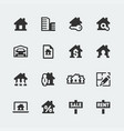 real estate mini icons set vector image