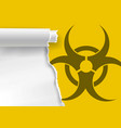 ripped paper with biohazard symbol vector image vector image