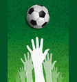 russian people together for russia soccer event vector image vector image