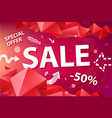sale banner poster with hand drawn doodle vector image vector image