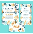 Save the Date card with Vintage floral frame menu vector image vector image