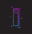 scale stationery school icon design vector image