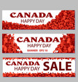 set of design elements for canada day 1st of july vector image vector image