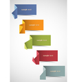 set of origami banners for design vector image vector image