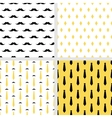 Set of printable seamless hipster patterns vector image vector image