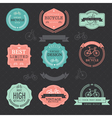 Set of vintage bicycle badge labels vector image