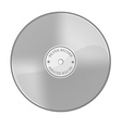 Silver disc vector image vector image
