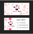 Sweet Box Donuts Business Card Label vector image vector image