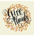 Thanksgiving card template Watercolor painted vector image vector image