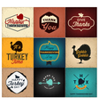 thanksgiving day design elements cards posters vector image vector image