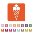 The ice-cream icon Ice cream symbol Flat vector image vector image