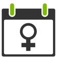 Venus Female Symbol Calendar Day Flat Icon vector image vector image