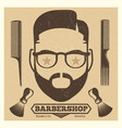 vintage barbershop poster template fashion vector image