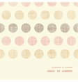 Vintage textile polka dots horizontal frame vector image