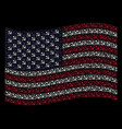 waving american flag stylization of sickle and vector image