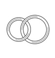 wedding rings line icon vector image vector image
