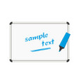 whiteboard text vector image vector image