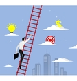 Businessman with suitcase climbing the stairs vector image