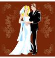 wedding portrait vector image