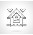 Real estate flat line icon Family house vector image