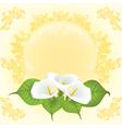 wedding card bouquet vector image